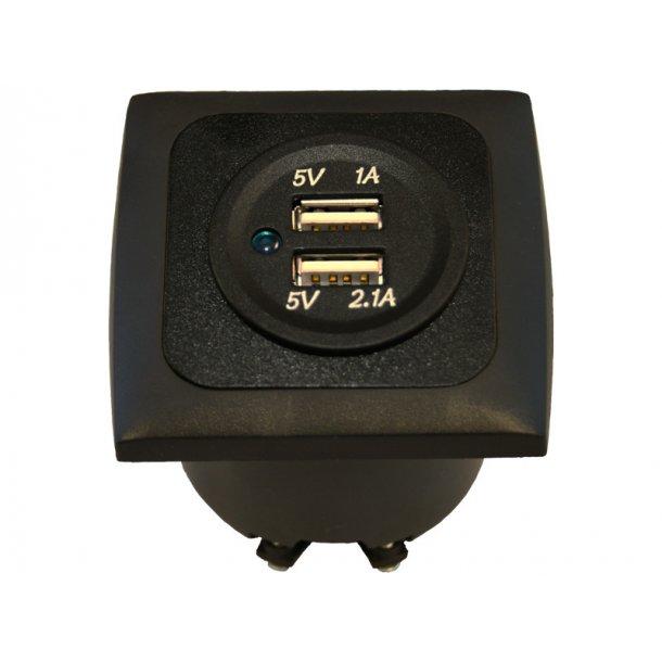 accessoires CMC ACCESSOIRES PRISE DOUBLE USB MURALE 3.1A